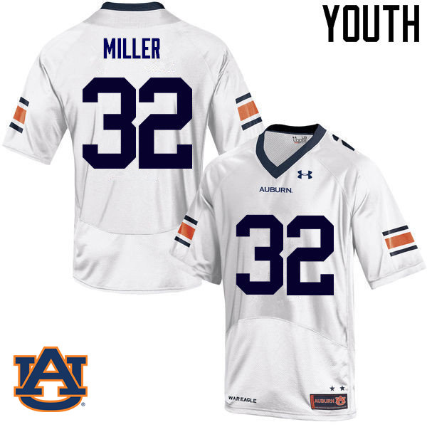 Youth Auburn Tigers #32 Malik Miller College Football Jerseys Sale-White